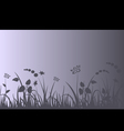 Evening meadow background vector image