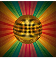 Retro Disco Ball Background vector image
