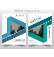 blue green triangle annual report brochure flyer vector image