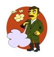 Comic cartoon Stalin vector image