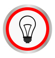 flat design bulb icon vector image