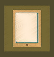 flat shading style icon tablet gadget vector image