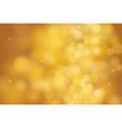 gold bokeh background for christmas and greeting vector image