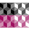 monochrome seamless 3d cube pattern vector image