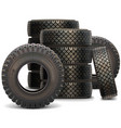 Old Truck Tire Set 2 vector image