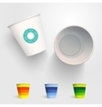 Realistic 3D Paper Cup Template vector image