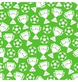 Sport football seamless pattern vector image