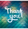 Thank you card on colorful magic geometric vector image