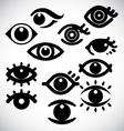 Eye design icons vector image