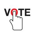 Vote title button vector image