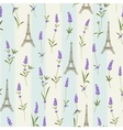 Pattern with lavender flowers vector image vector image