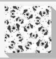 Animal seamless pattern collection with dalmatian vector image