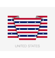Stars and Stripes Flag Flat Icon vector image