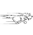 dog running sketch vector image