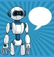 smart robot futuristic technology bubble speech vector image
