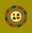 flat icon on background poker chips vector image