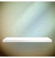 Empty white shelves on light blue vector image