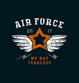 Air force emblem vector image