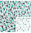 seamless turquoise geometric pattern vector image