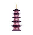 flat cartoon japan pagoda icon