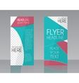 Brochure Flyer design Layout template Blue vector image