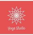 Yoga Studio Logo Template vector image
