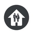 Monochrome round family house icon vector image vector image