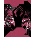 yoga grunge poster vector image vector image