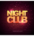 Typography Disco background Night club vector image