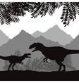 Dinosaur icon design vector image