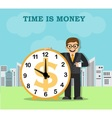 time and work in the big city vector image