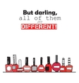 But darling all of them are different Colorful vector image