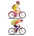 Bicyclist set vector image