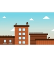 Building in cartoon flat style vector image