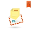 Christmas Envelope Colorful vector image