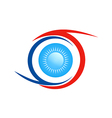 eye ball abstract logo vector image