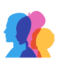 Family icons head vector image