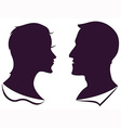 man and female profile silhouette vector image