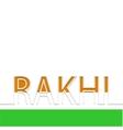 modern rakhi background indian holiday vector image