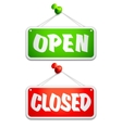 Open and Closed Door Signs vector image