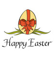 traditional happy easter concept vector image