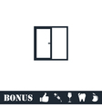 Window icon flat vector image