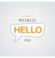 World hello day icon vector image