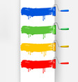 banner with paint roller brush vector image vector image