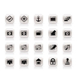 server and computer icons vector image vector image