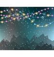 Christmas Lights Background for your seasonal vector image