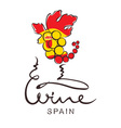 Logotype sign - wine from Spain vector image vector image