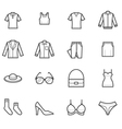 Women Clothing Icons vector image vector image