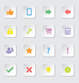 Colorful web icon set 2 vector image