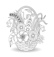 Doodle art flowers floral pattern vector image